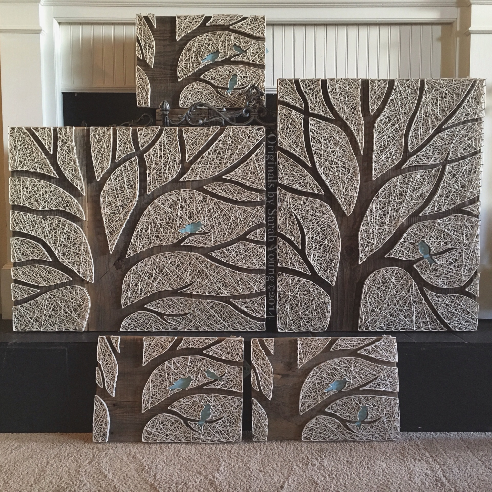 Large Negative Space Tree String Art