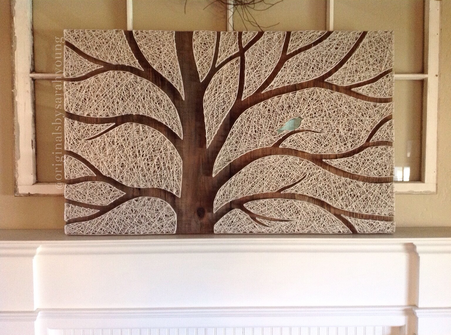 """Beast"" Negative Space Tree String Art (horizontal)"