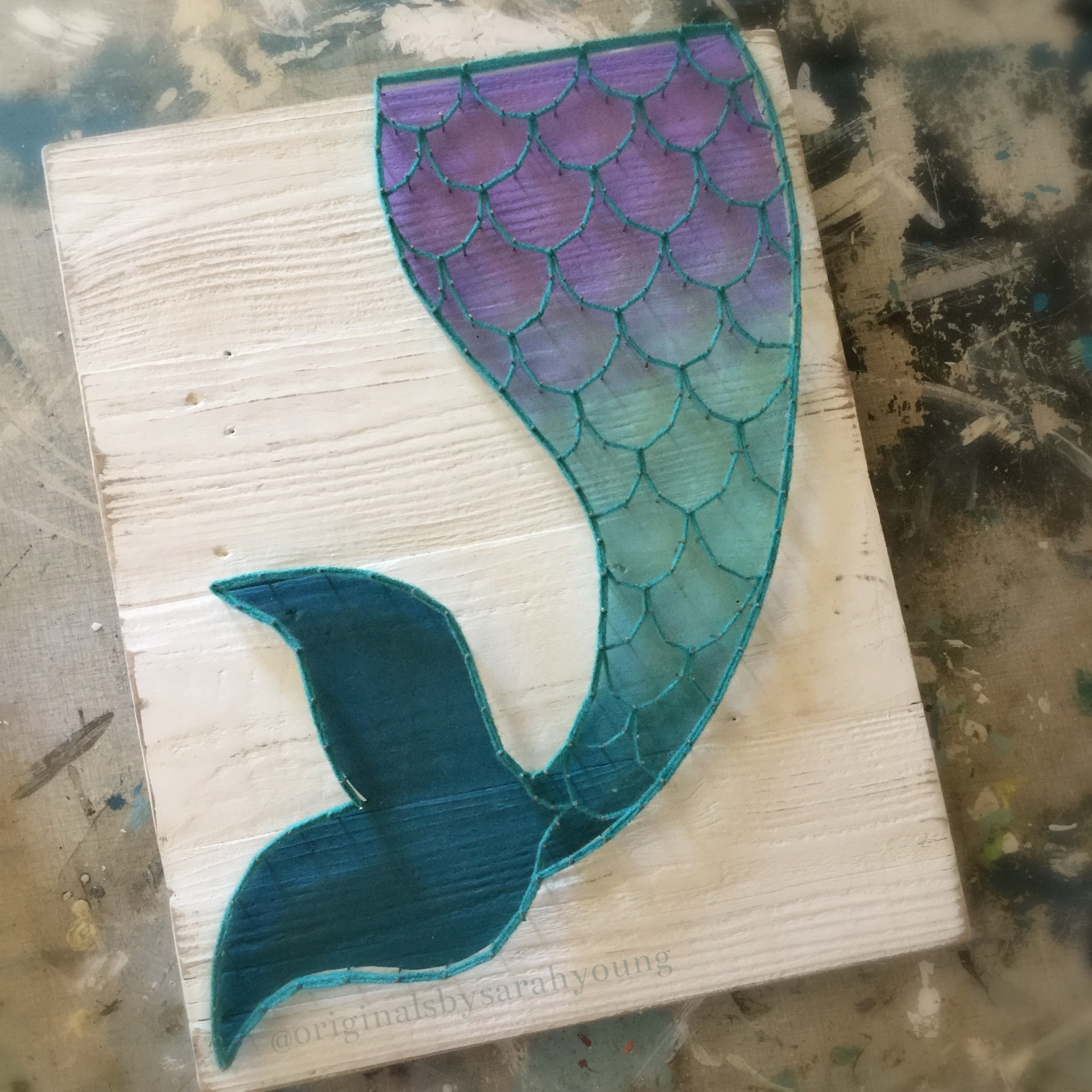 Mermaid Tail String Art