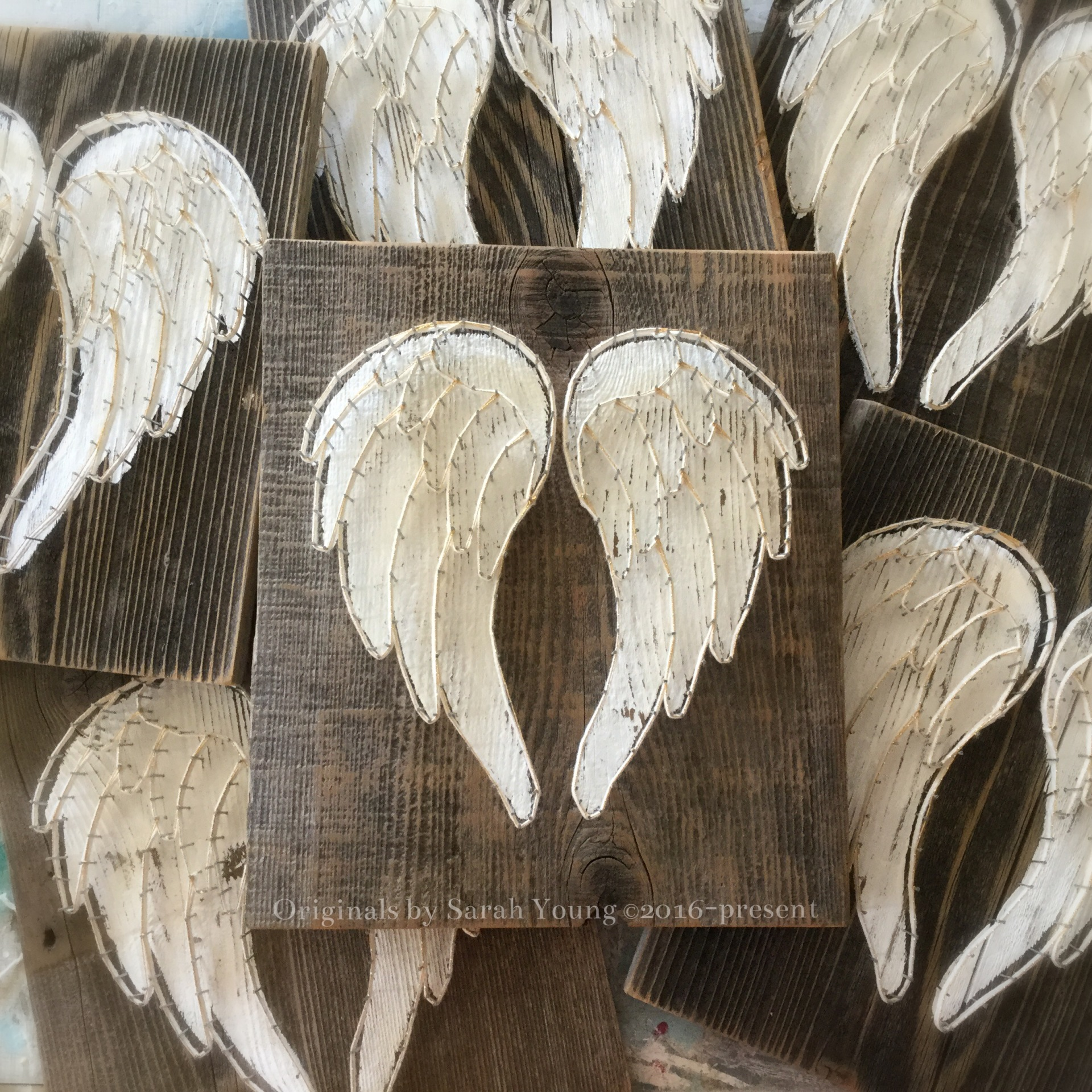 Angel Wings Heart String Art