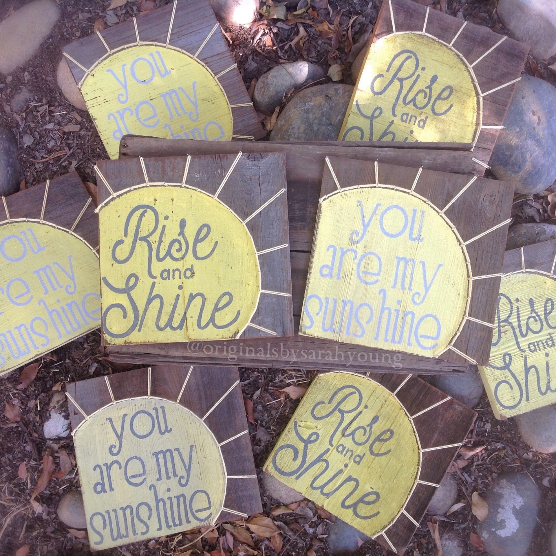 Sunshine String Art with Painted Words