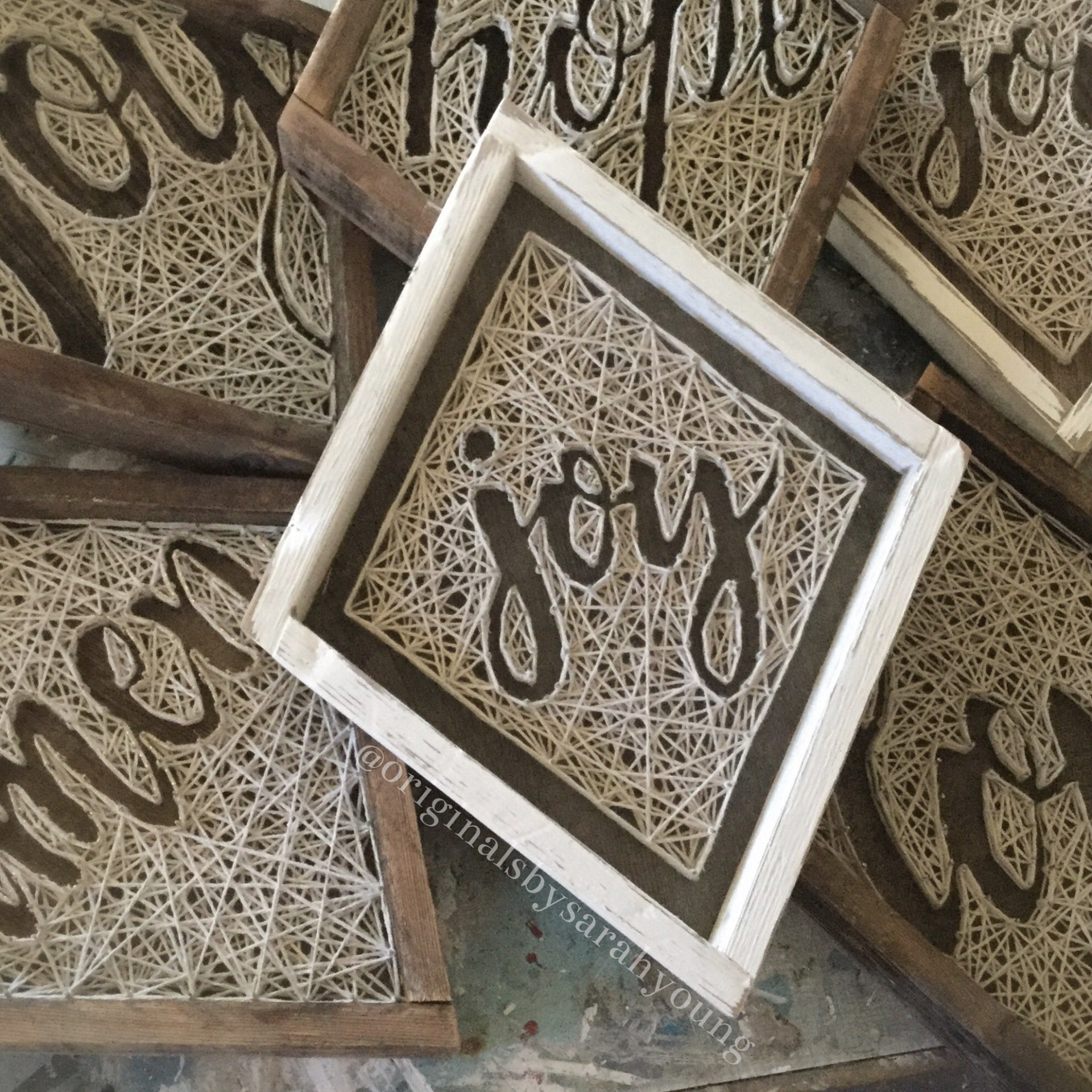Diamond String Art Words