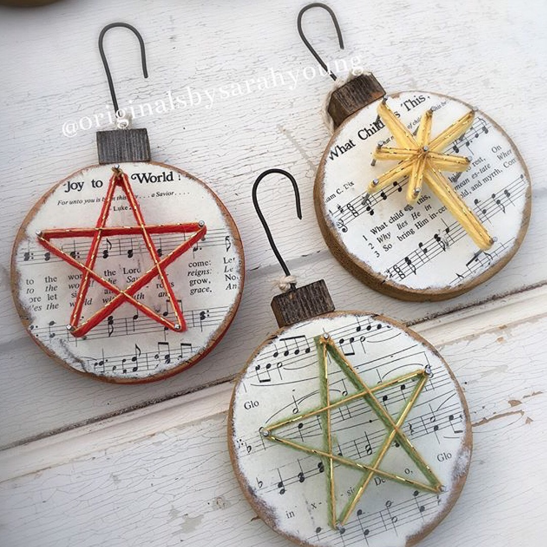 String Star Christmas Hymn Ornaments
