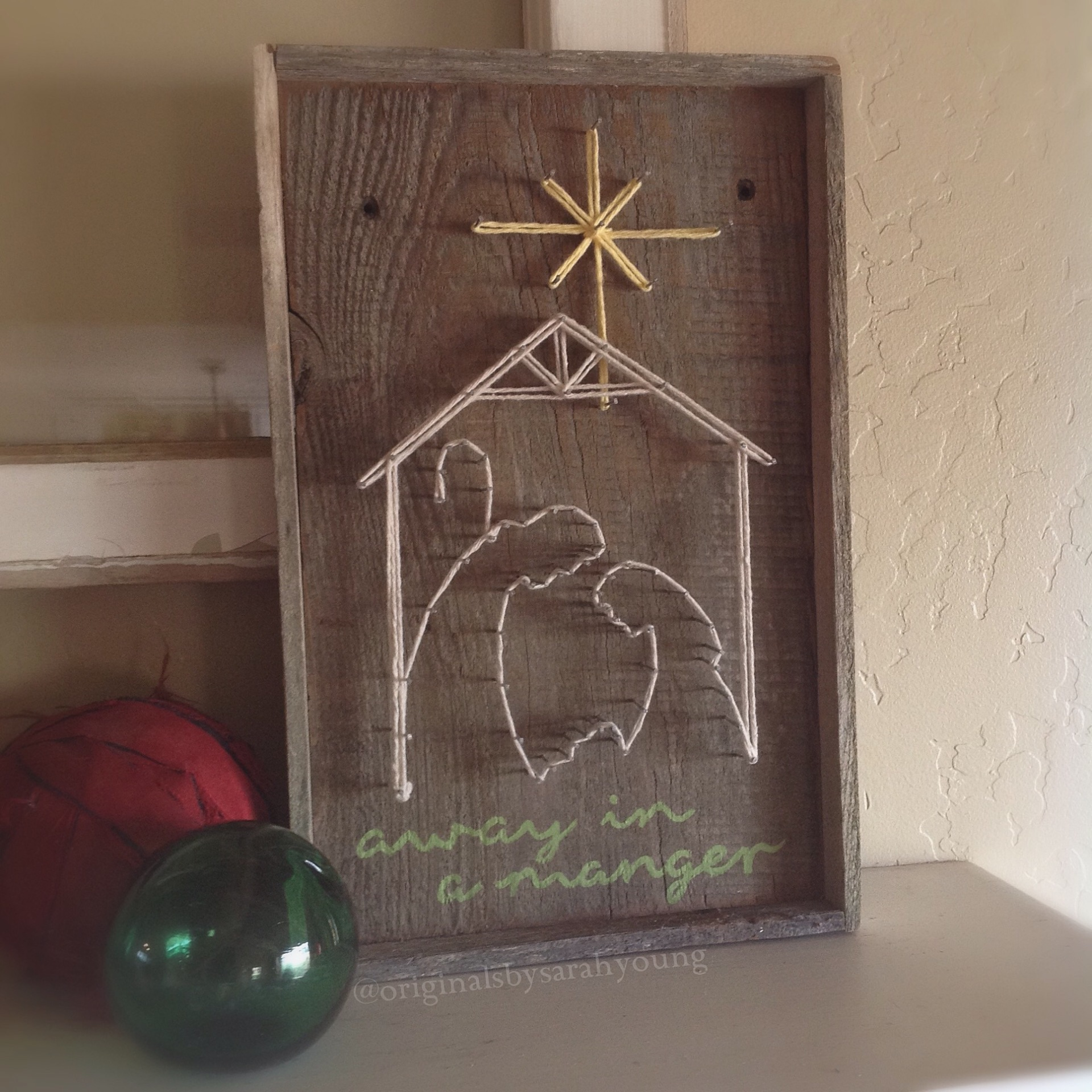 Nativity String Art
