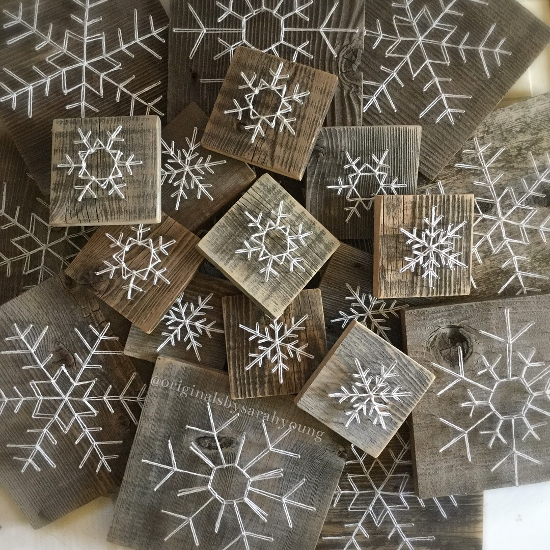String Art Snowflakes