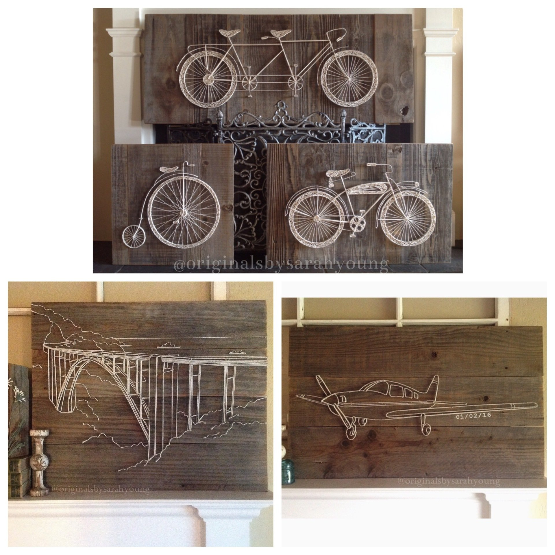 Examples of Custom Order String Art